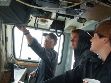 """Russell Ingalls, Michael Brown and Jan Bindas-Tenney.  Heading for Kent in the fog, """"if we we can find it."""""""