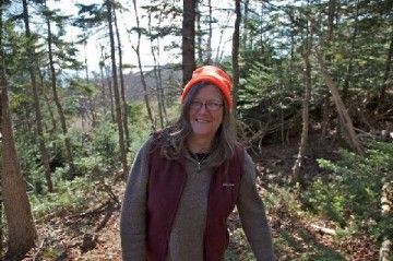 Alison Hawthorne Deming on the trail in Grand Manan